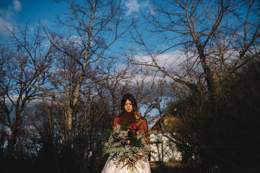 matrimonio invernale nel bosco