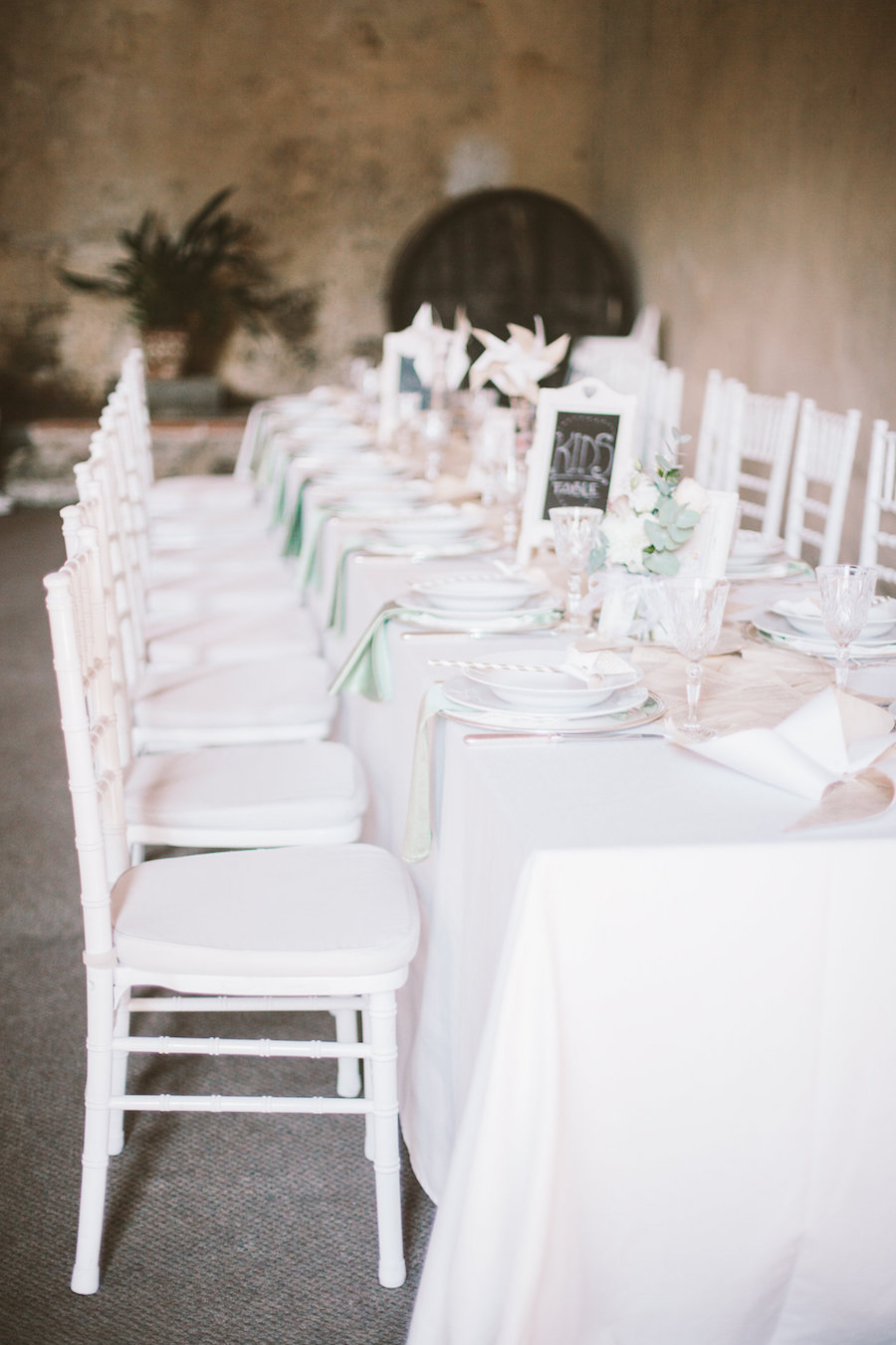 tavolo dei bambini matrimonio