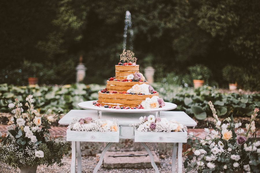 tavolo wedding cake vintage