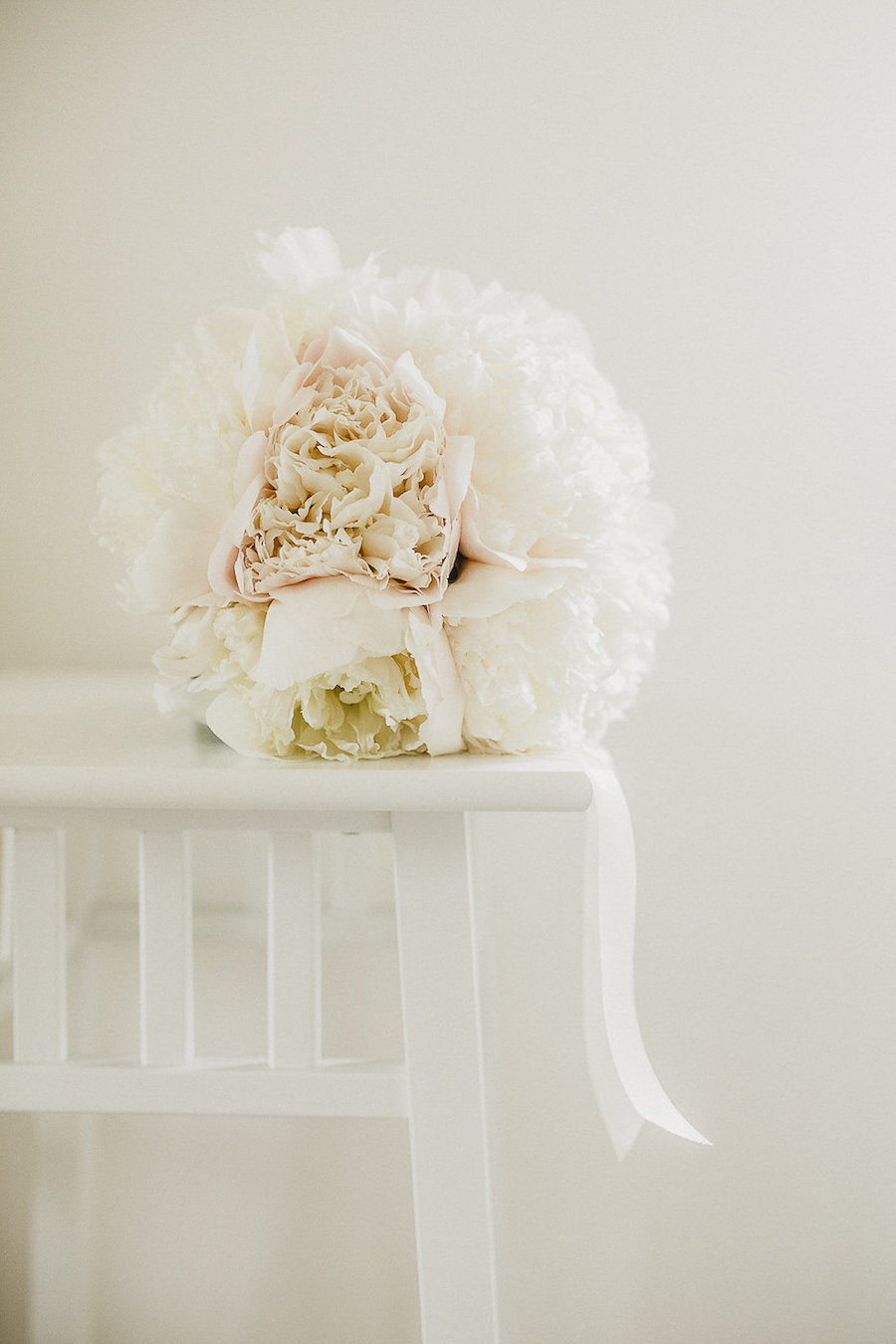 bouquet di peonie rosa cipria