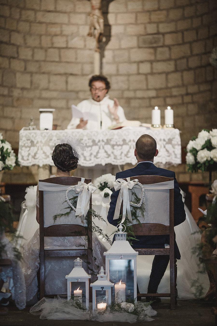 allestimento cerimonia matrimonio vintage