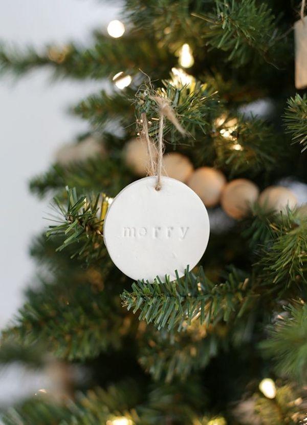 ornamenti albero di natale fai da te in argilla