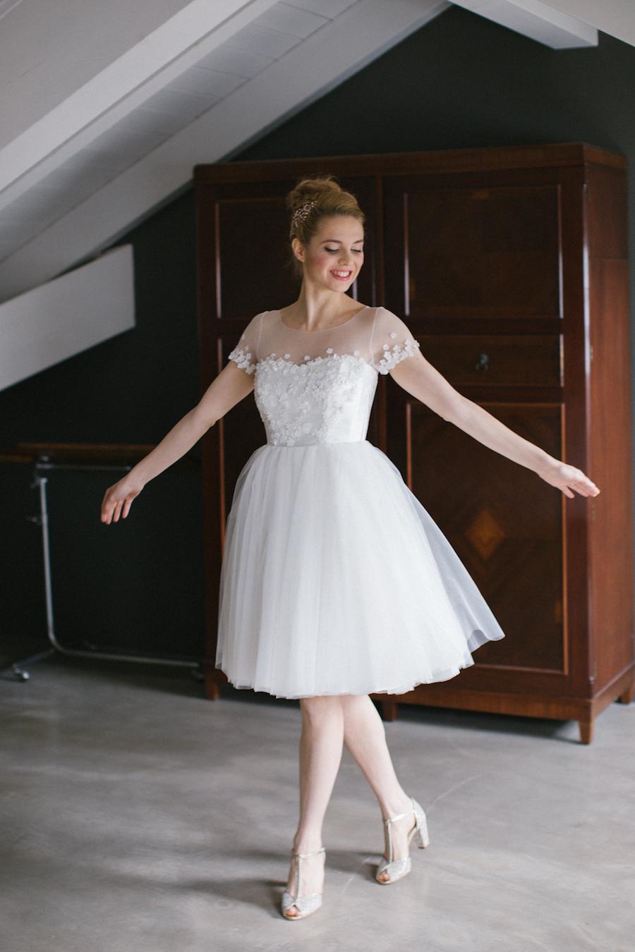 sposa ballerina in abito nadia manzato
