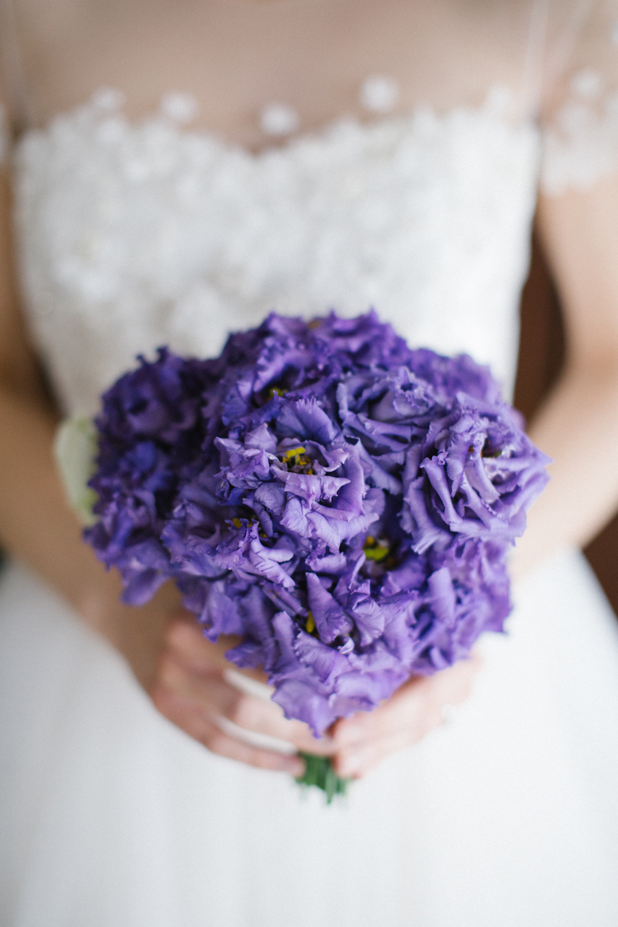 bouquet di lisianthus viola