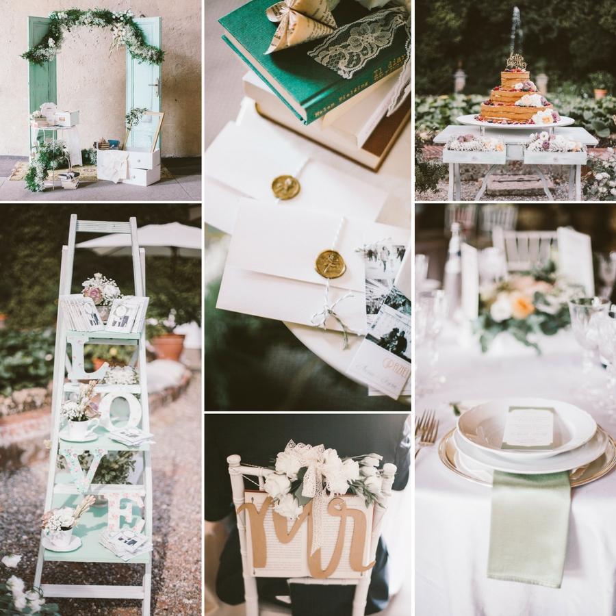 weddinglam - allestimento per matrimonio vintage a tema libri