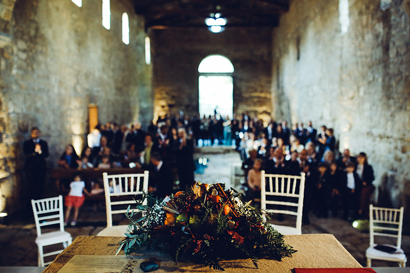 cerimonia all'abbazia di san giusto