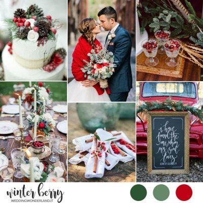 Winter Berry: ispirazione per un matrimonio a Natale