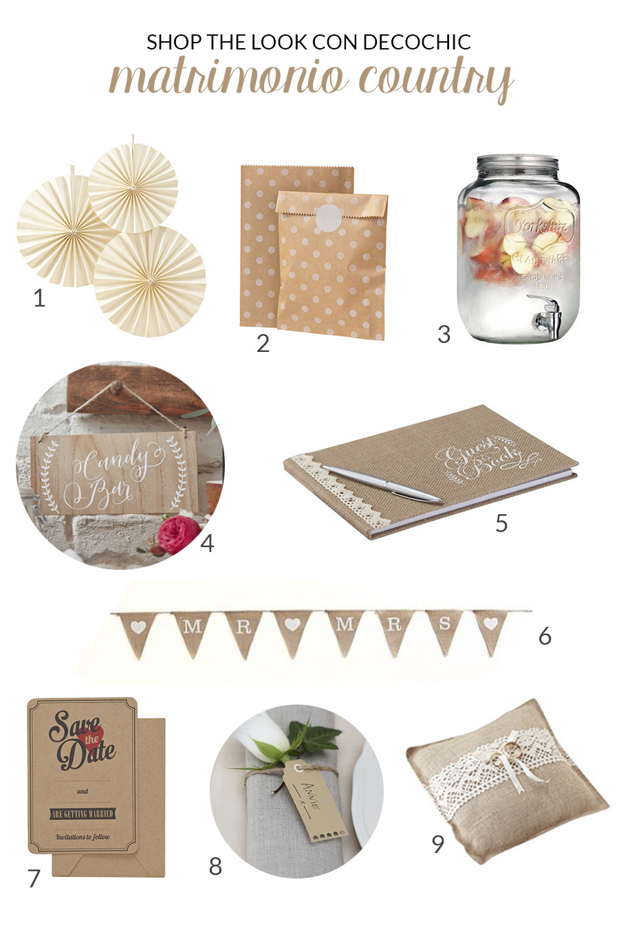 decorazioni matrimonio country chic - decochic