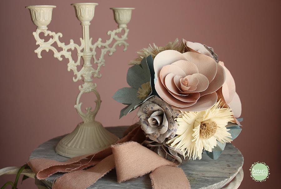 bouquet di carta - dettagli