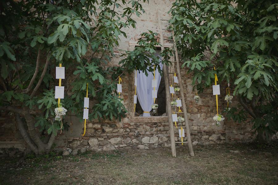 tableau de mariage con scala vintage