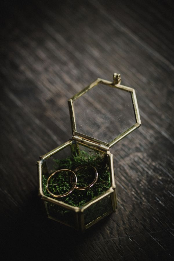 scatola geometrica portafedi