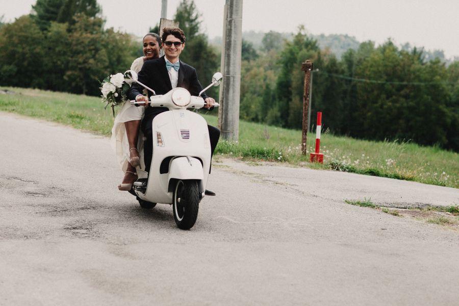 sposi in moto