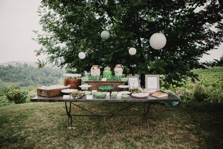 sweet table rustico in verde