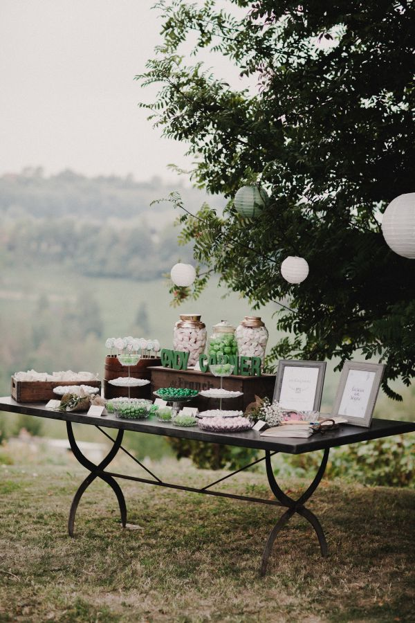 sweet table rustico in verde