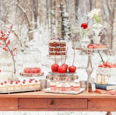 15 favolose decorazioni per il matrimonio in inverno