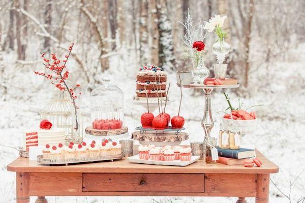 sweet table a tema biancaneve