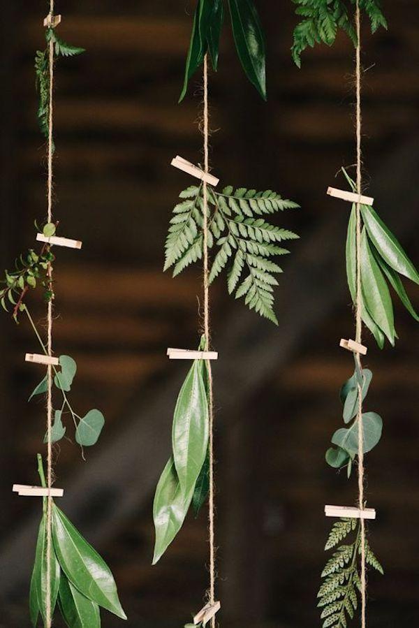 backdrop con foliage e spago