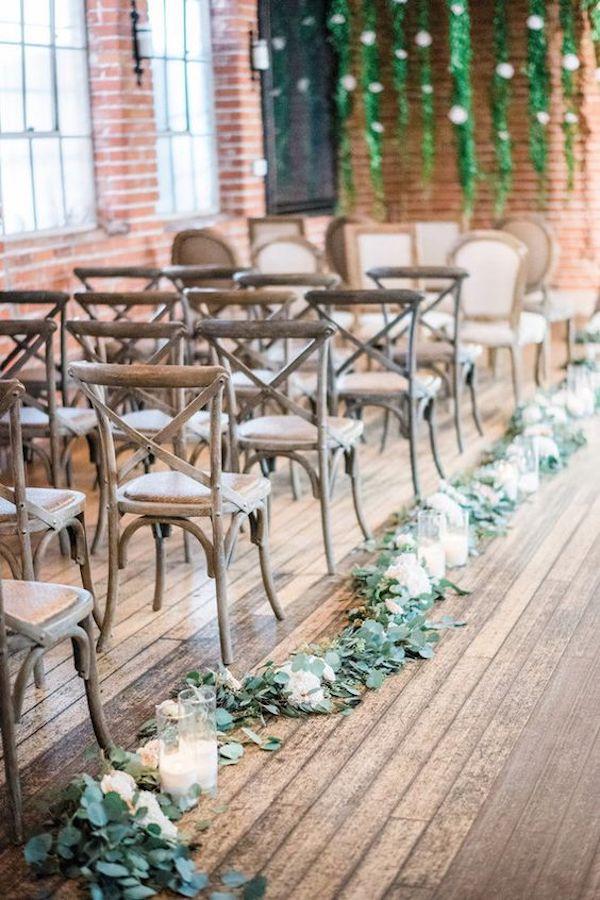 decorazioni con foliage per la cerimonia