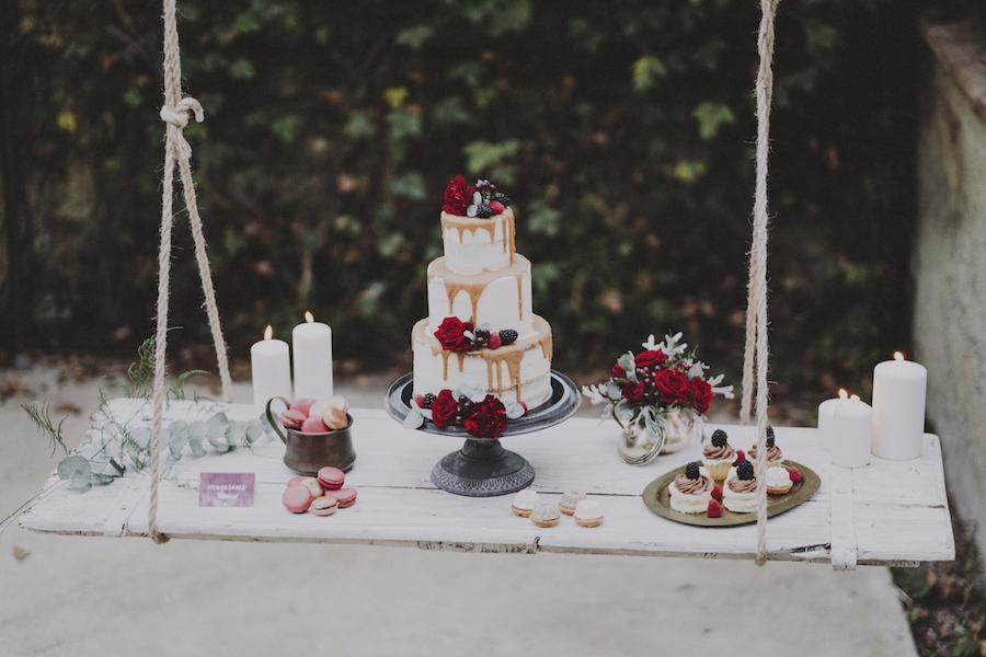 sweet table autunnale marsala