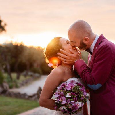 Orchidee per un matrimonio fucsia