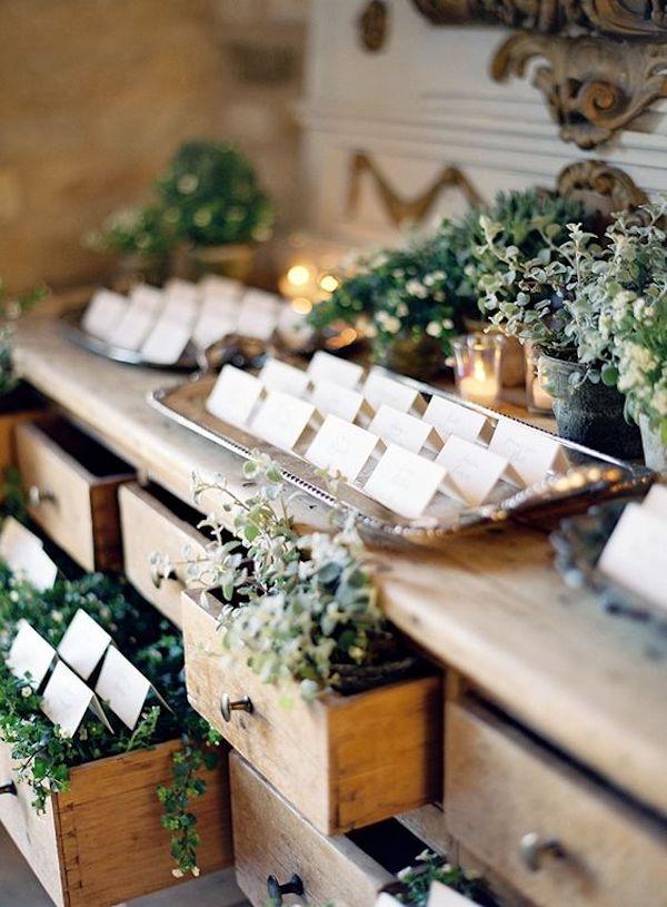 tableau de mariage con foliage