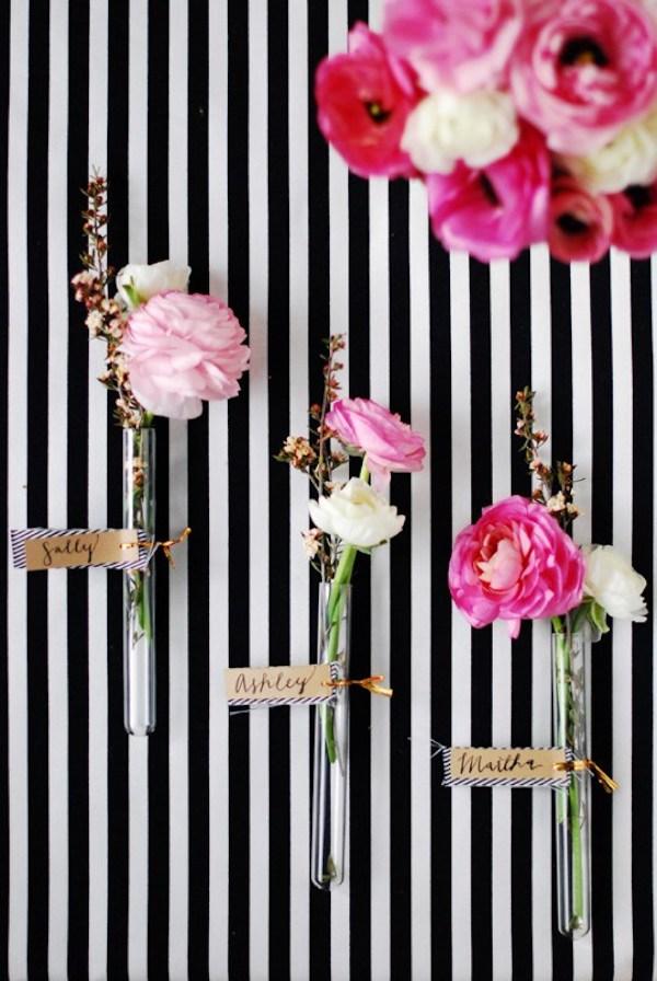 segnaposto floreale fai da te