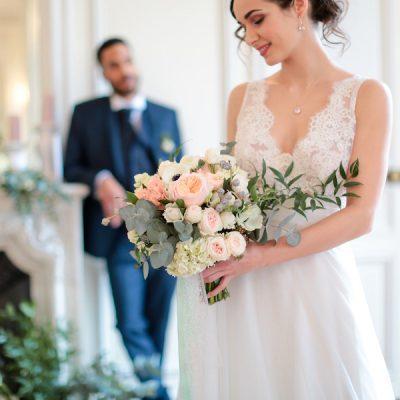Stile francese e dettagli moderni per un matrimonio in castello