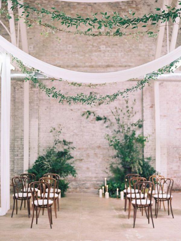 matrimonio industriale con foliage