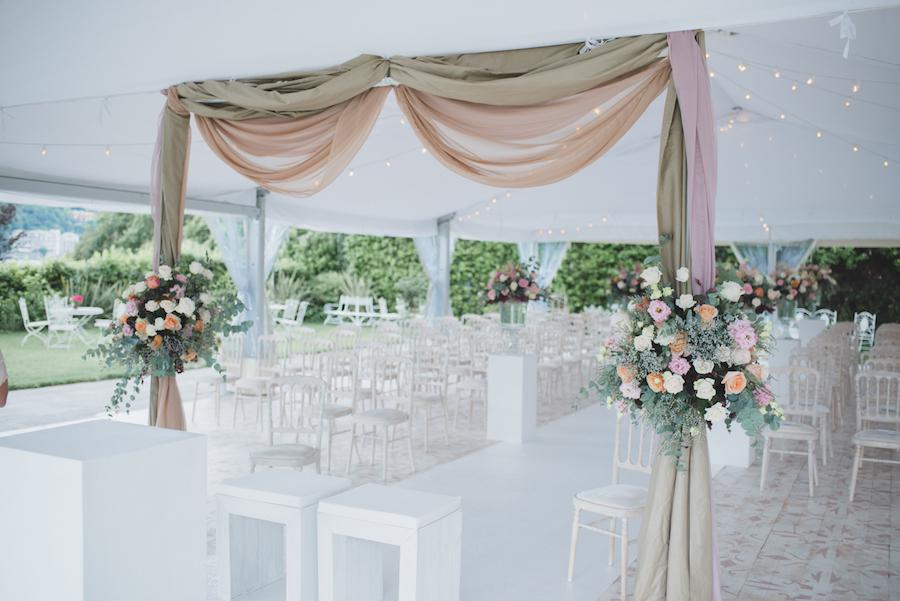 cerimonia civile elegante rosa cipria