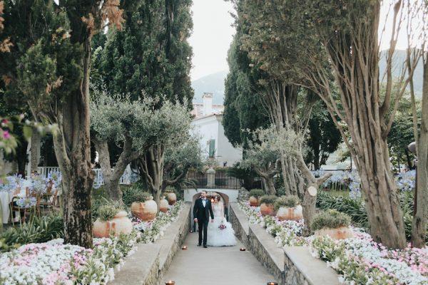 Lavanda ed erbe aromatiche per un matrimonio a Ravello