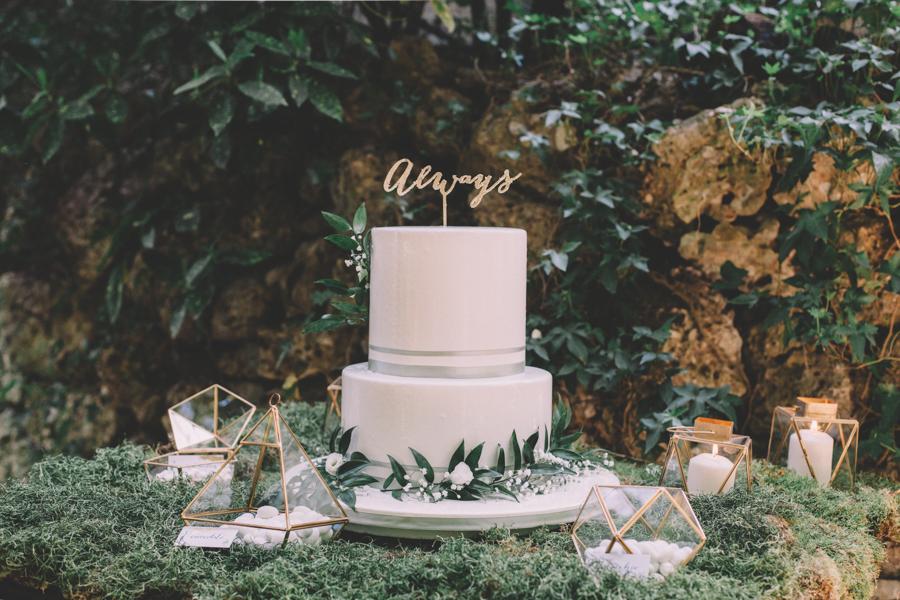 sweet table botanico e geometrico