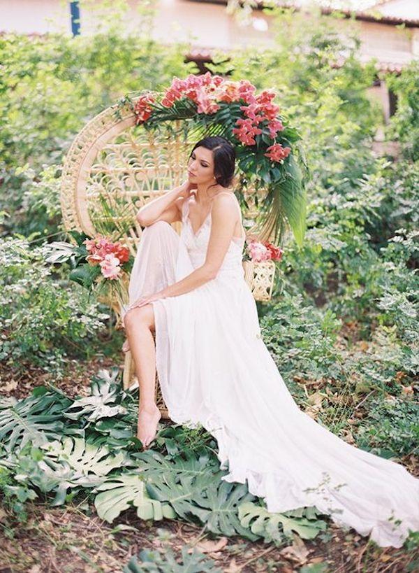 abito da sposa tropicale