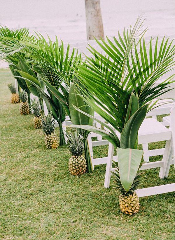 allestimento matrimonio con ananas