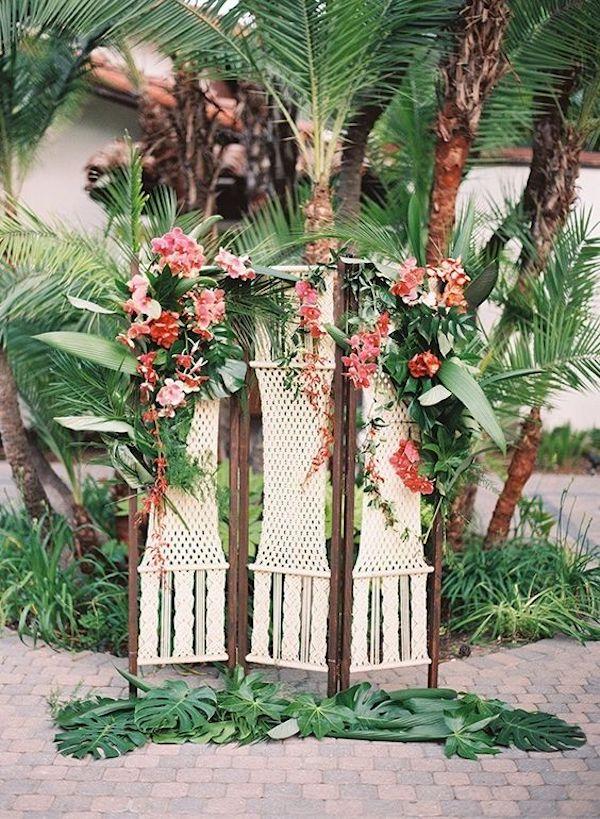 backdrop matrimonio tropicale