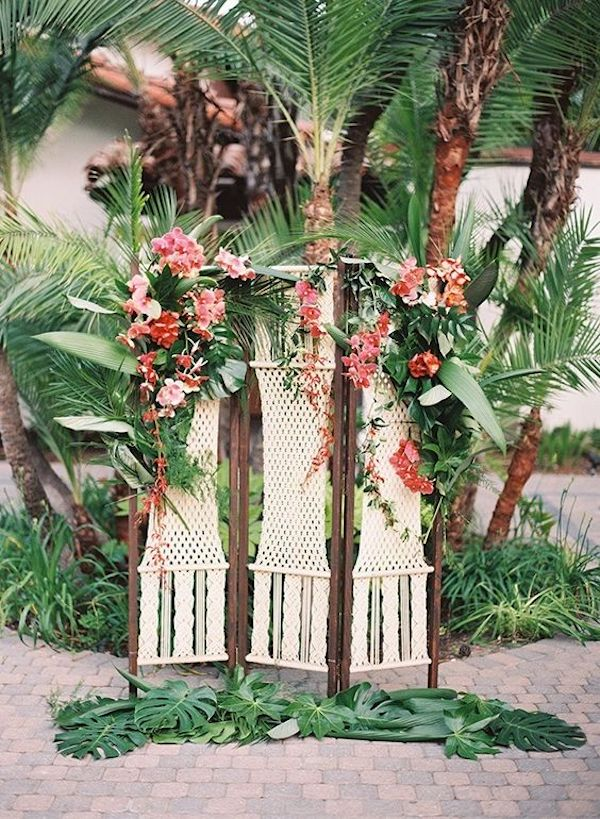 backdrop matrimonio tropicale