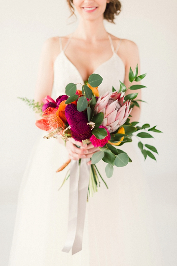 bouquet matrimonio tropicale