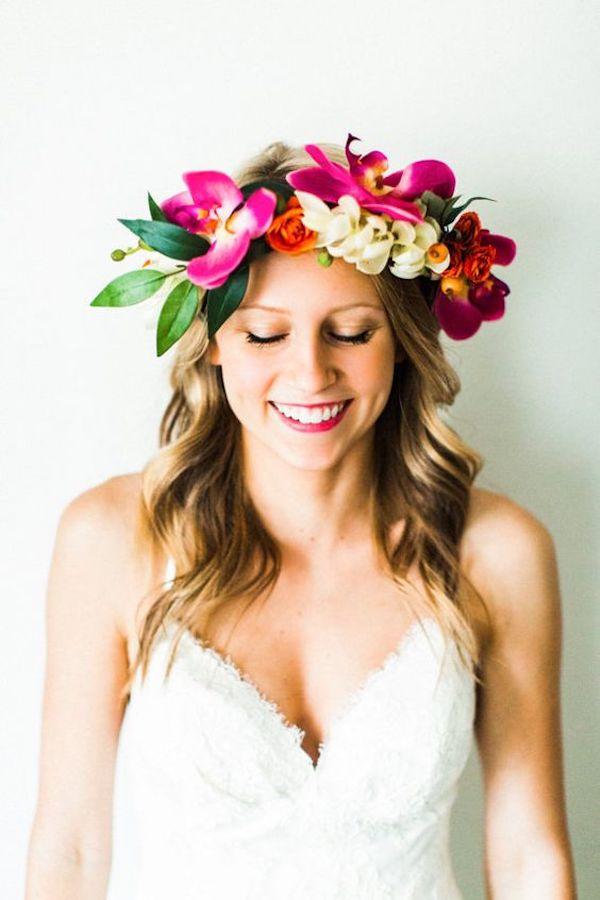 corona di fiori tropicale