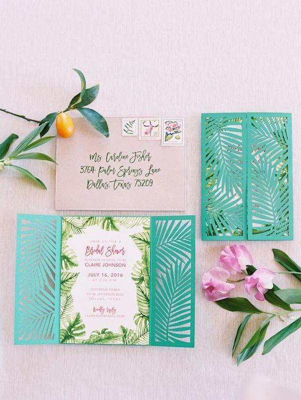 partecipazioni matrimonio tropicale