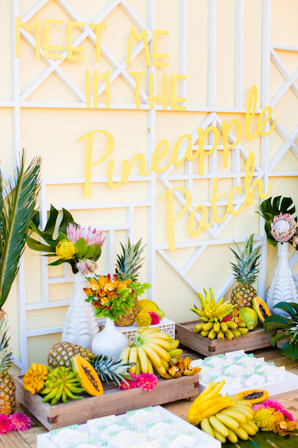 tableau de mariage tropicale