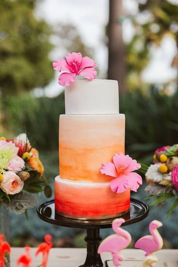 wedding cake tropicale