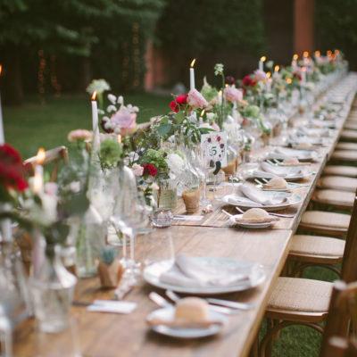 Acchiappasogni e merletti per un matrimonio bohémien