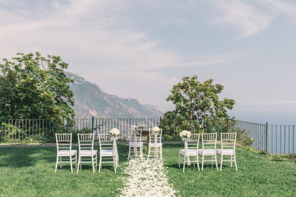 Un matrimonio intimo e raffinato ad Amalfi