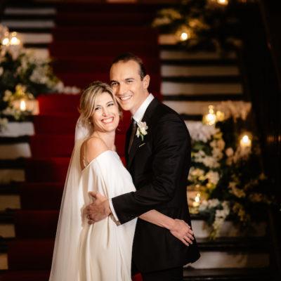 Un matrimonio elegante e natalizio