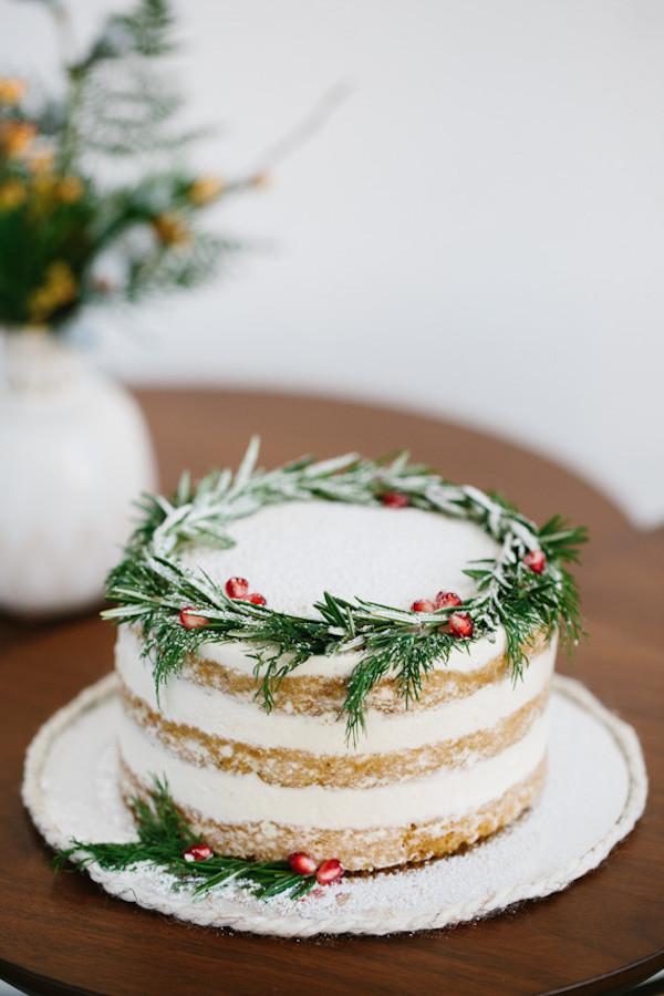 torta matrimonio a Natale