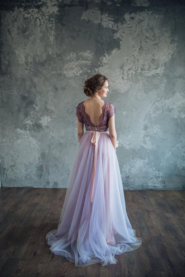 abito da sposa viola