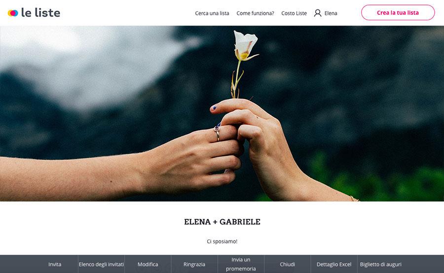 le liste di collettiamo   lista nozze online