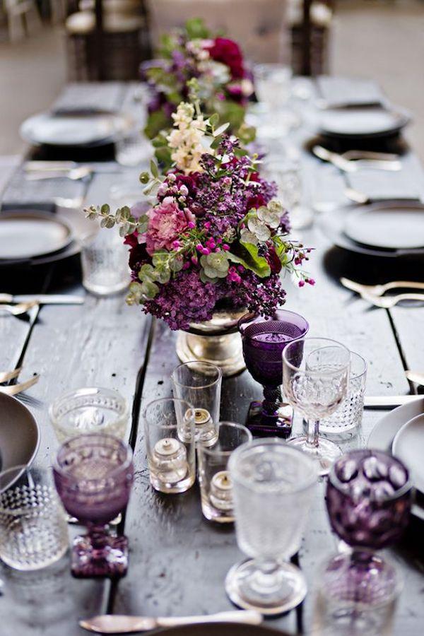 tavola matrimonio viola