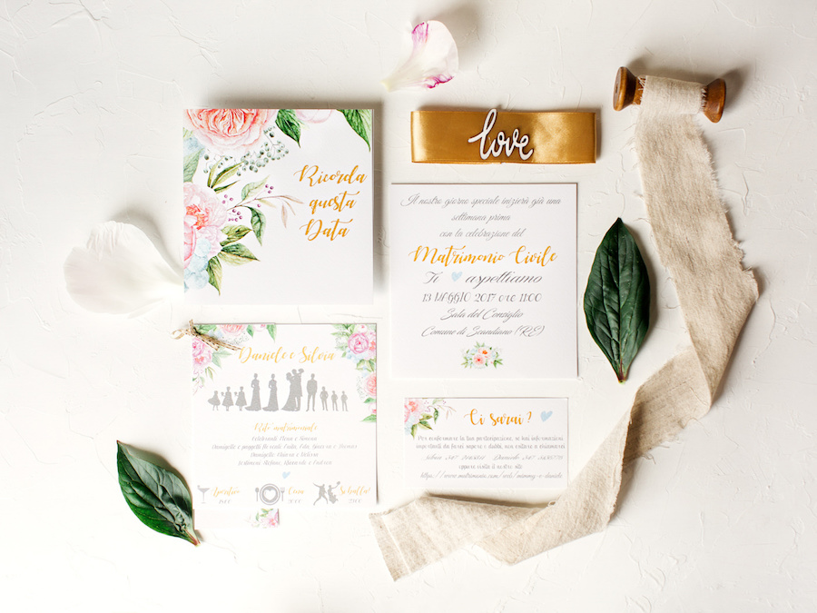 partecipazioni matrimonio floreali