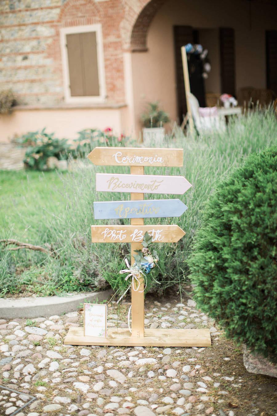 cartelli matrimonio colori pastello