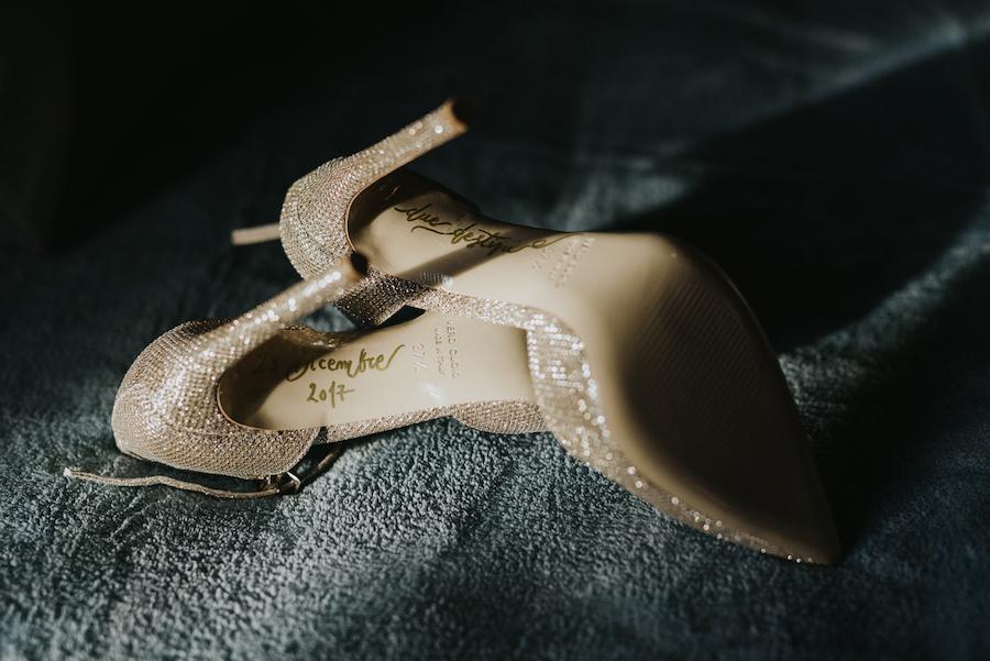 scarpe da sposa oro